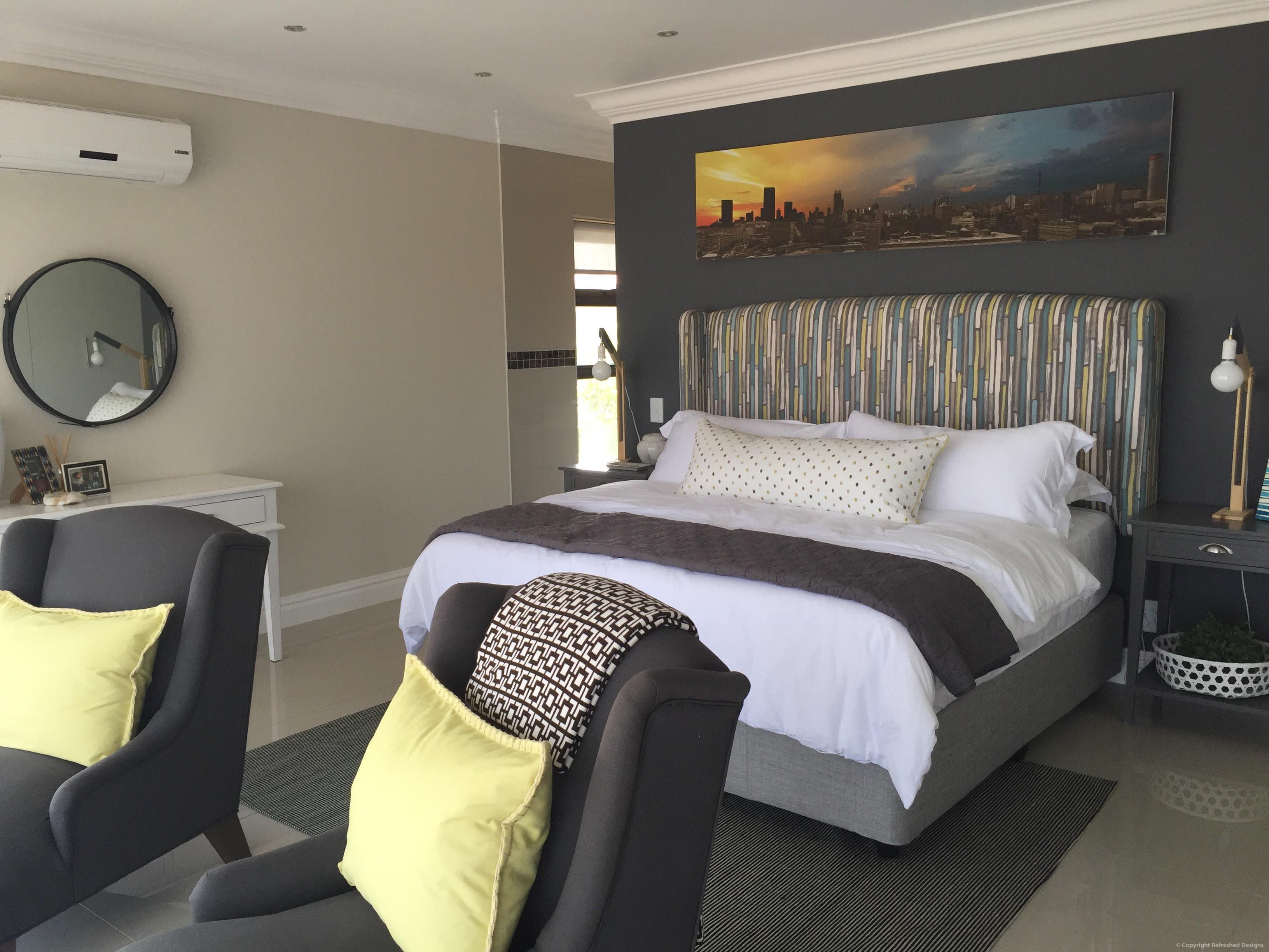 Refreshed DesignsRefreshed Designs, Interior decor, furniture, Bedroom, bedside lamps, headboard