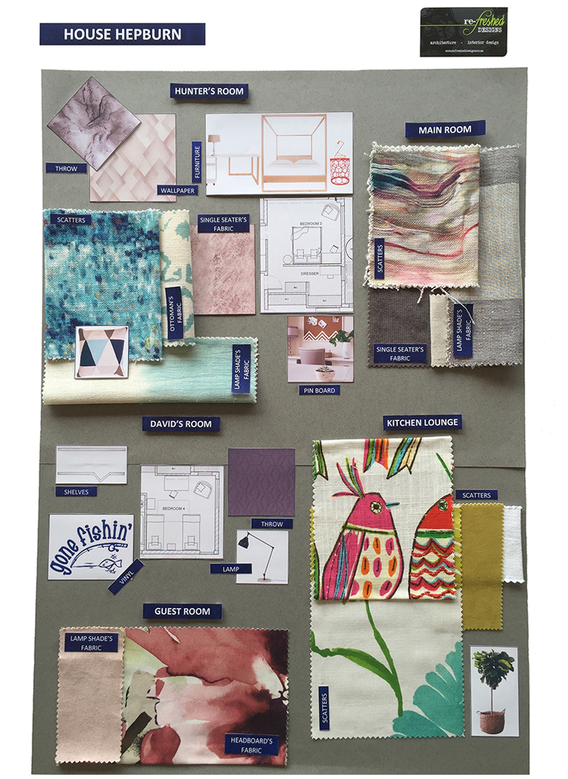 House Hepburn- Furniture & Fabric Board 1