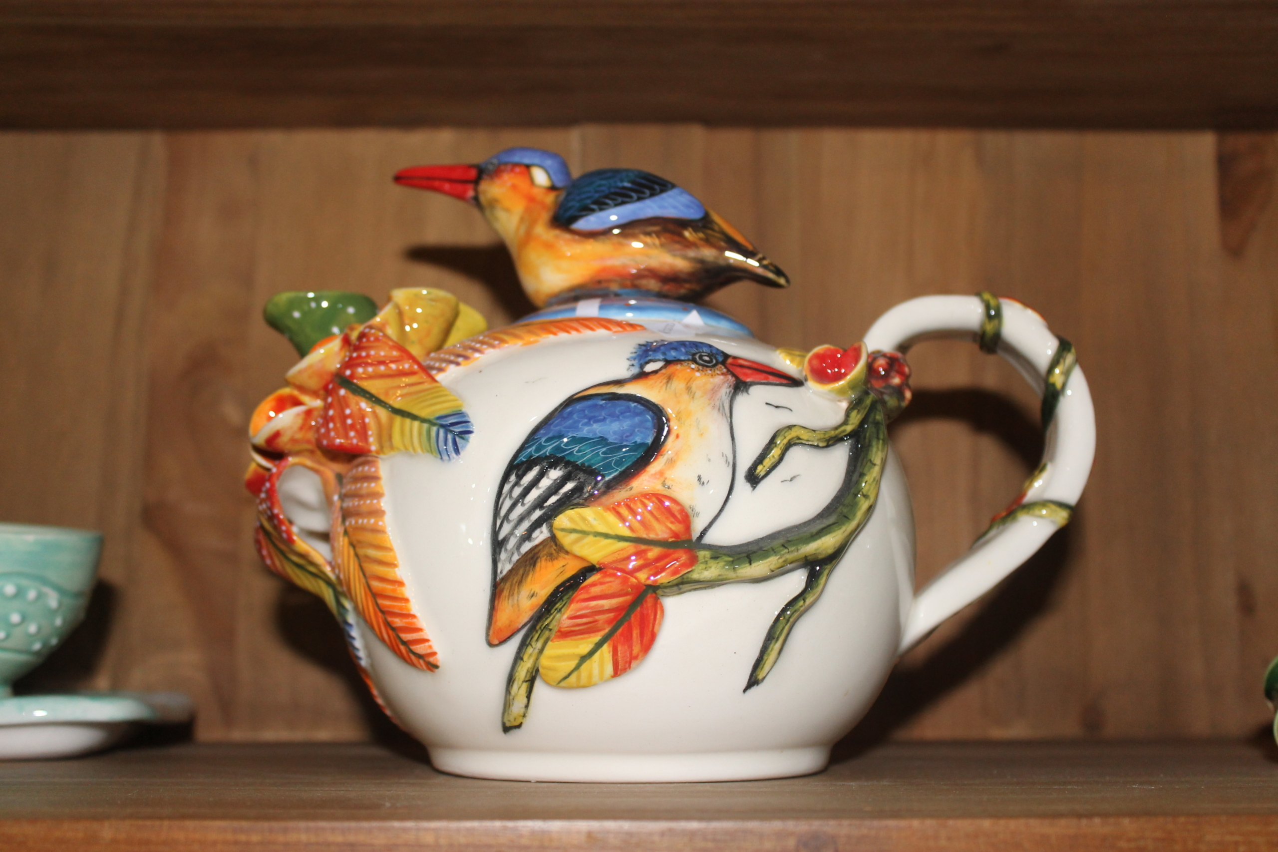 Refreshed Store Ballito- handmade & hand painted pottery tea pot